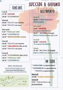 programma giugno